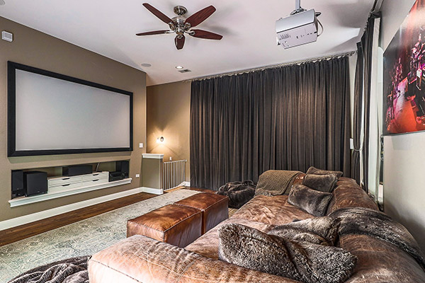 Featured Prop - Spacious Estate Home Theater with Projector